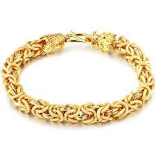 mens gold hand bracelet images Lohome fashion bracelets 18k gold tone twist chain jpg
