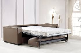 Sofa Beds With Mattress by Modern Chocolate Leather Sofa Bed