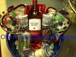 wine baskets ideas quarter auction charmcitycreativedesigns