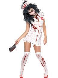Halloween Costumes Girls Zombie Womens Possessed Zombie Nurse Costume Fancydress