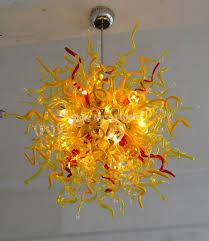Orange Glass Chandelier 15 Best Ideas Coloured Glass Chandelier Chandelier Ideas
