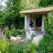 wooden beehive at rhs chelsea flower show 2013 homebase garden