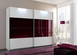 German Bedroom Furniture Companies German Made 225cm Sliding 2 Door Slider Wardrobe White U0026 Purple