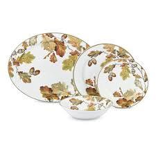 botanical acorn dinnerware collection williams sonoma