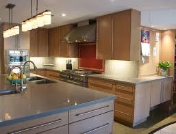 transitional kitchen with red backsplash nancy hugo