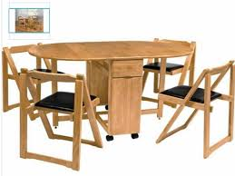 Folded Dining Table Folding Round Dining Table And Chairs Starrkingschool
