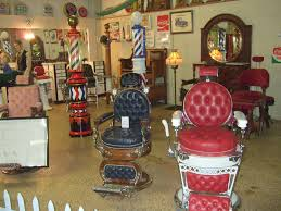 Vintage Barber Chairs For Sale Antique Barber Poles And Chairs The Antique Car And Museum U2026 Flickr