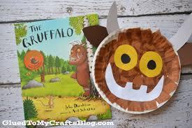 paper plate gruffalo kid craft