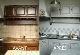 renover cuisine en bois renovation cuisine bois avant apres