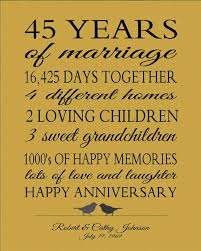 45 wedding anniversary wedding anniversary gift ideas for parents