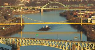 Pennsylvania travel videos images The three sisters bridges spanning the allegheny river in jpg