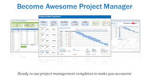 Simple Excel Project Management Template Excel Project Portfolio Management Templates Now