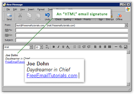 format html for email create an html email signature in outlook express rich format