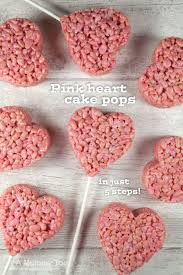 super cute pink heart crispy cake pops recipe heart cakes cake