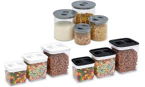 storage canisters for kitchen squeeze lid kitchen containers groupon goods