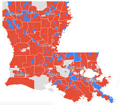Louisiana Parishes Map by Louisiana And New Orleans Election Results