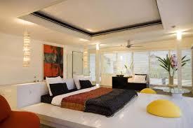 bedroom top notch design ideas using cream motif comforter and
