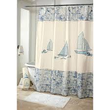 bathroom peach shower curtain with nautical shower curtain