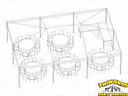table seating for 20 20x30 frame tent layouts
