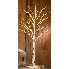 lighted birch tree loon peak indoor birch led lighted tree walmart