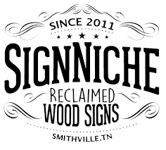 Smithville Barn Wood Signs Handcrafted With Reclaimed Wood And Barn Roof Tin