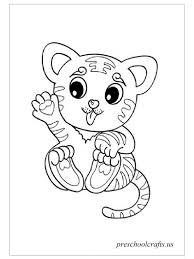 Baby Tiger Coloring Pages Preschool Crafts Adorable Tigers Coloring Pages Preschool