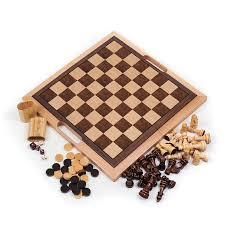 Chess Board Amazon Amazon Com Deluxe Wooden Chess Checker And Backgammon Set Brown