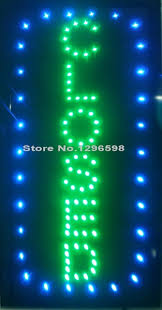 neon mart led lights closed vertical shop led 19x10 sign bright store neon bar close