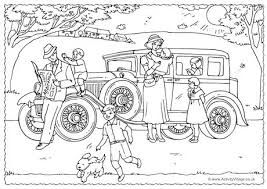 family colouring page