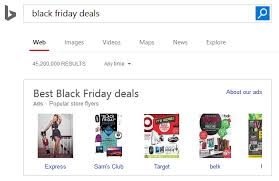 black friday best deals express bing ads launches new black friday flyers carousel