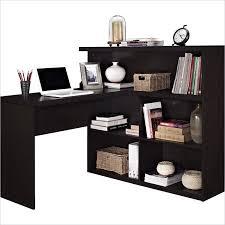 L Shaped Desk With Bookcase Sit Stand L Shaped Desk In Espresso Espresso Desks And Basements