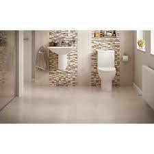 Wickes Bathroom Vanity Units Wickes Brook Beige Glazed Porcelain 300 X 600mm Pack 6 Bathrooms