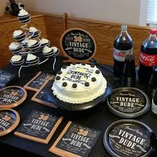 Masculine Decor For Surprise Party Men s 30th Birthday Dessert