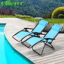 Chair Case Ollieroo Folding Zero Gravity Chairs Case Of 2 Blue Lounge Patio