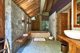 Stone Bathroom Vanities Coolest Rustic Luxury Bathroom With Exposed Stone Wall With Modern