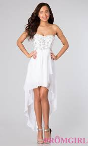 high low strapless party dress beaded dress promgirl