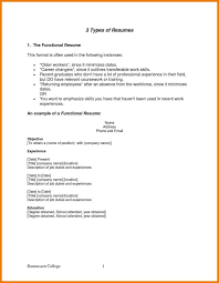 kinds of resume format types of resume formats best of types resume format exles