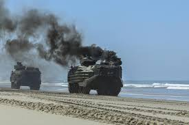 amphibious vehicle military training mishap aav fire injures 14 marines sailor some in