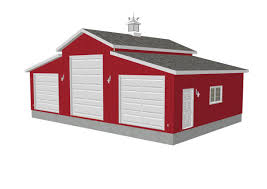 plan g258 45 x 30 u2013 10 u2032 sides 15 u2032 center rv garage plan free