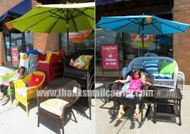 Pier 1 Imports Patio Furniture Thanks Mail Carrier Creating An Outdoor Oasis With Pier 1
