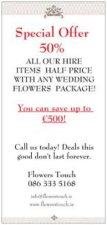 wedding package deals wedding packages flowers touch