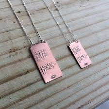 morse code necklace personalized custom personalized morse code necklace in copper and sterling