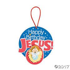 happy birthday jesus manger ornament craft kit trading
