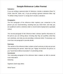 sample reference letter format 7 download free documents in pdf