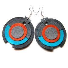 felt earrings felt accessories findinspirations