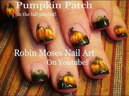 easy fall nails diy thanksgiving pumpkin patch nail art design