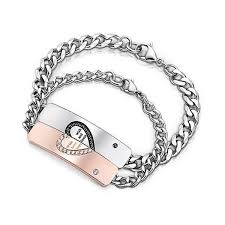 love heart chain bracelet images With wish love and happiness couple chain bracelets blazemall jpeg
