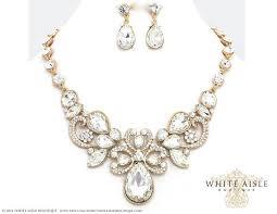 bridesmaid statement necklaces gold bridal statement necklace set wedding jewelry set vintage
