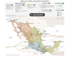 Map Of Mexico Cancun by Where Mexico U0027s Drug Cartels Operate Business Insider