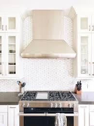 white kitchen cabinets with hexagon backsplash black and white hexagon kitchen backsplash tiles